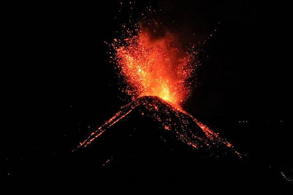 Vulkan Fuego in Aktion