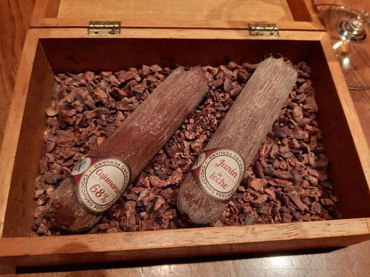 Ein Dessert zum Rauchen ;o) - Schoggi-Zigarren