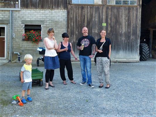 Mein Schulteam - Susanne, Esthi, Armin und Lea