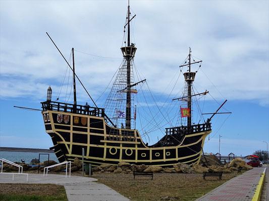 Ein Schiff aus der Flotte von Magellan