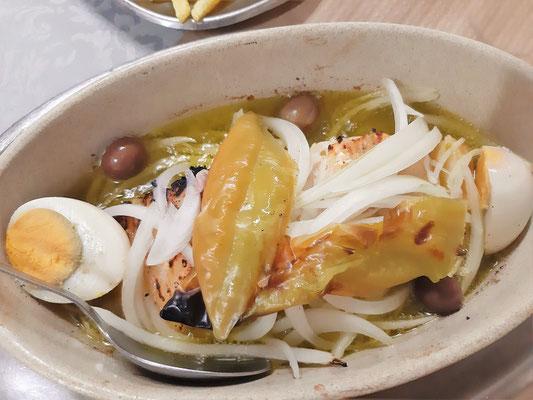 Bacalhau fehlt auf keiner Menue-Karte - wird am Vortag vor der Zubereitung in Wasser eingelegt, anschliessend gekocht oder gegrillt
