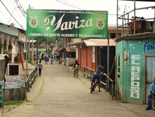 Dorfstrasse von Yaviza....