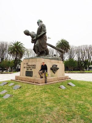 Denkmal für die Gründer von Colonia Suiza/Nueva Helvecia