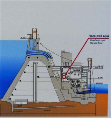 Der hohle Damm ist auf Balsalt gebaut
