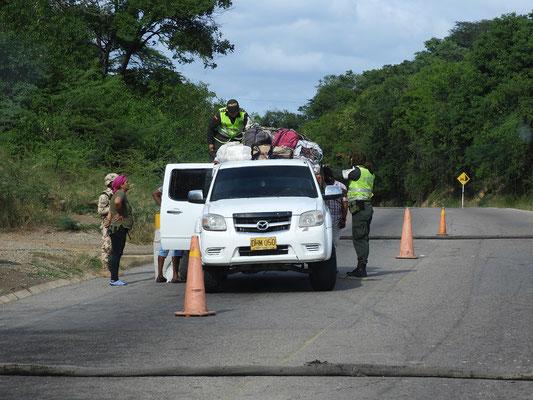 Viele Polizeikontrollen entlang der venezolanischen Grenze