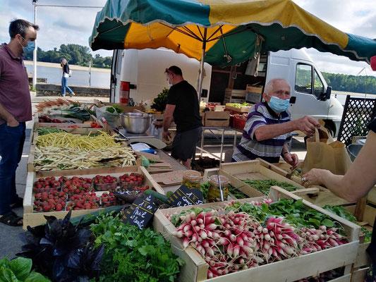 Markt in Montsoreau....