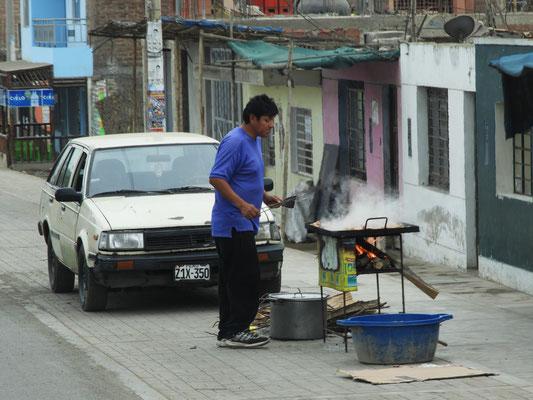 Grillieren am Strassenrand