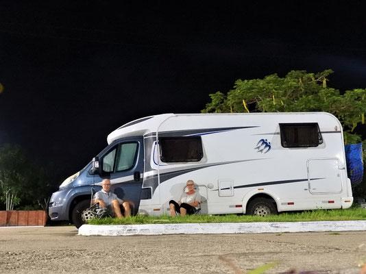 Unser Nachtquartier auf dem Parkplatz
