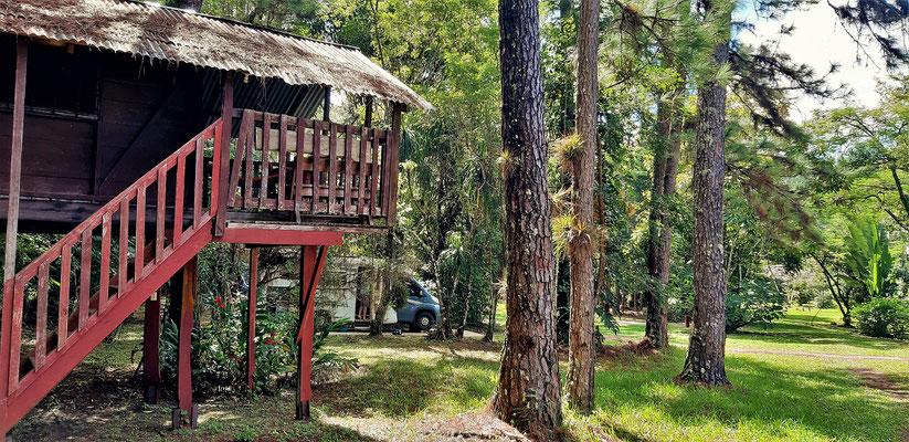 Die schöne Parkanlage mit Cabañas und Campingplätzen - wir sind alleine!
