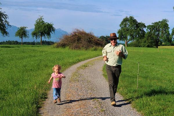 Joggen mit Grossdädy