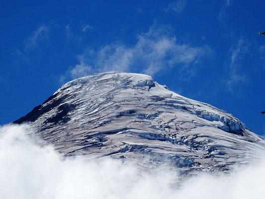 Eiskappe des Vulkans