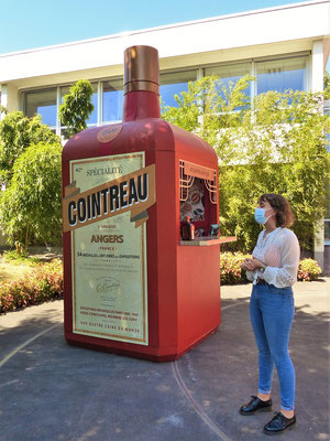Jaqueline erklärt uns die Herstellung von Cointreau - leider nur auf Französisch :o/