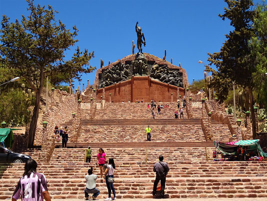 Humahuaca - Denkmal zum Unabhängigkeits-Kampf gegen Bolivien und Peru 1810-1823