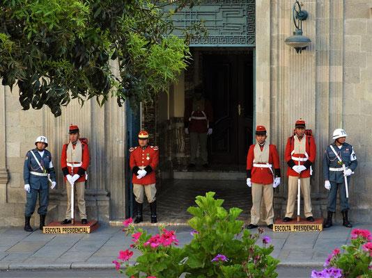 Palastwache von Präsident Evo Morales