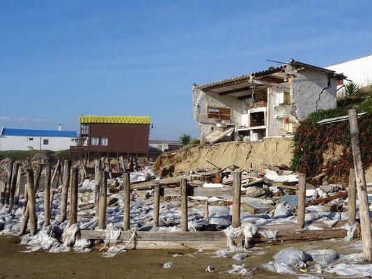 Die Unwetterschäden nach dem heftigen Sturm - Aguas Dulces