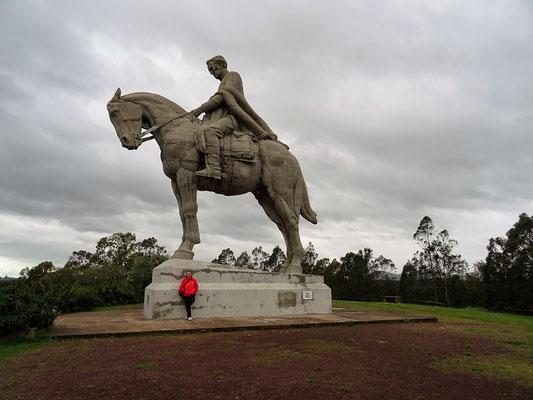 Denkmal General Artigas - offensichtlich das grösste Reiterstandbild der Welt