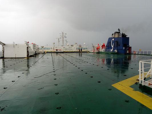 Unser Deck bei Regen
