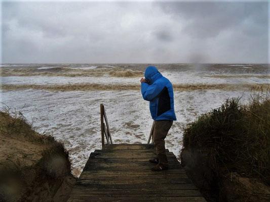 ....und während dem Sturm - Böen bis zu 130 km/h