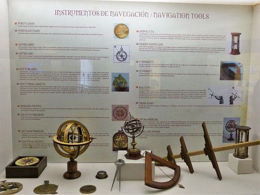 Die Instrumente zum Navigieren der Schiffe