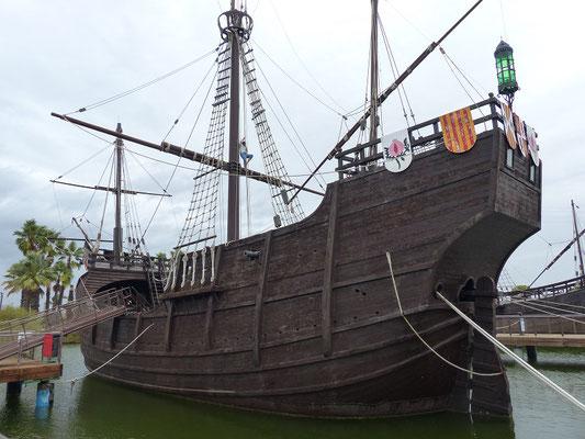 Die 36 m lange Santa Maria, das Schiff von Kolumbus....