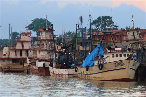 Einfahrt in den Hafen von Belém