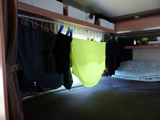Lustig ist das Zigeunerleben....oder unser Camper ist auch ein Trockenraum!