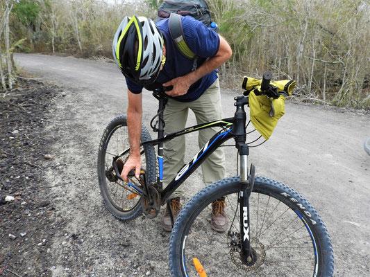 Panne - kein Wunder bei diesen Bikes :o((