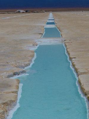 Salzgewinnung in Becken