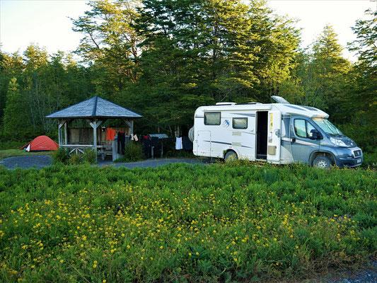 Camping El Volcano im Pumalin Park