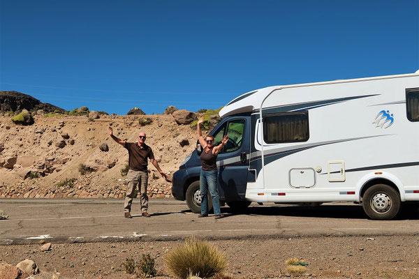Wir haben's geschafft - 4660müM und dem Camper geht es gut!