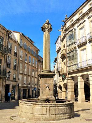 Der Miguel de Cervantes Brunnen