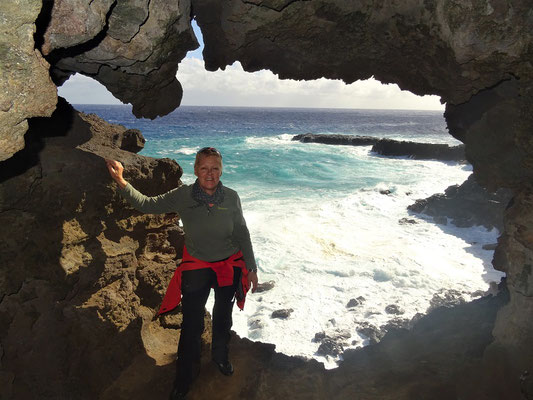 Geschafft! Wunderbare Sicht auf die Kliffs und das Meer