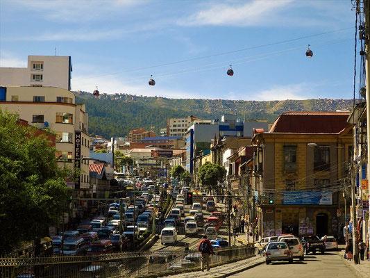 Wir verlassen La Paz