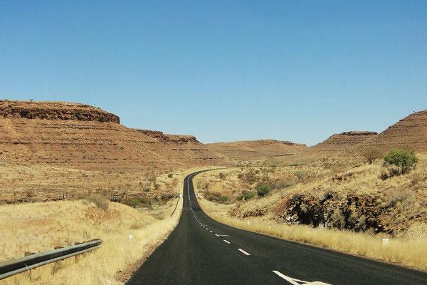 190 km Fahrt zum Frish River Canyon