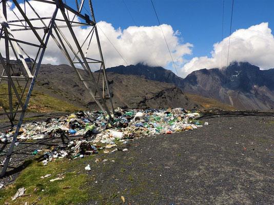 Die höchst gelegene Mülldeponie :o(