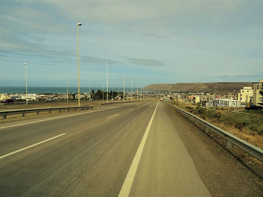 Einfahrt in Comodo Rivadavia