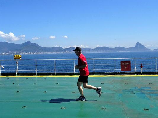 Joggen 'vor' der Copacabana