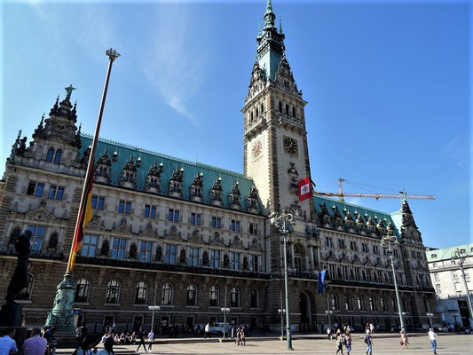 Das impossante' Hamburger Rathaus'