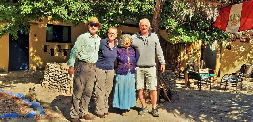 Mit Doña Olivia und Jean Pièrre aus Lyon