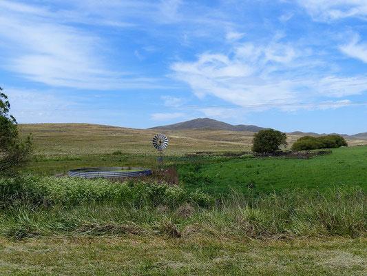 Von Weitem die ersten Hügel der Sierra de la Ventana
