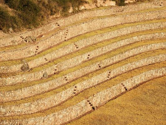 In die Mauern eingelassene Stufen