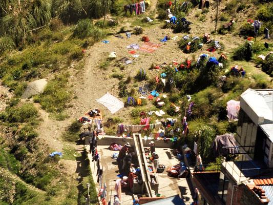 ....Waschtag in La Paz