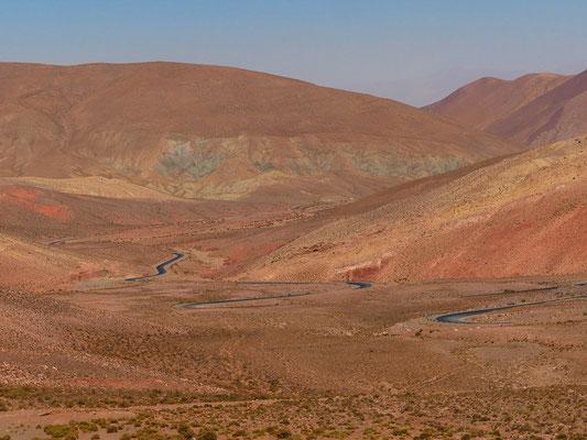 Auf der Fahrt zur Quebrada de Humahuaca