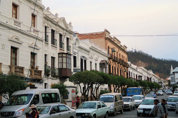 Kolonialhäuser am Hauptplatz