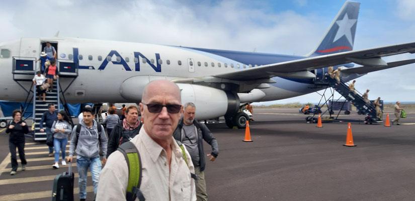Ankunft auf dem Flughafen San Cristóbal