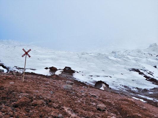 An der Gletscherzunge