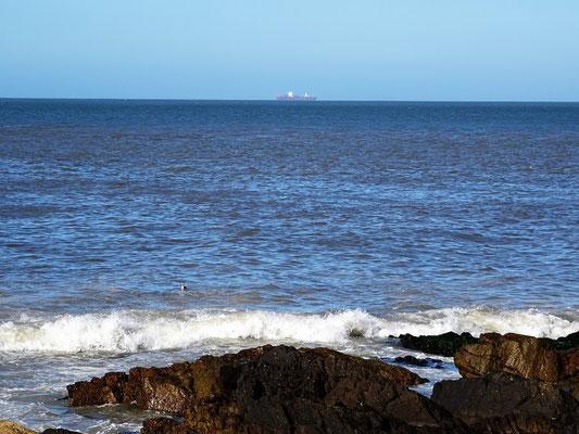 Südlichster Punkt von Uruguay. Hier stossen Río de la Plata und Atlantik aufeinander. Vor zwei Wochen fuhren wir da draussen vorbei!
