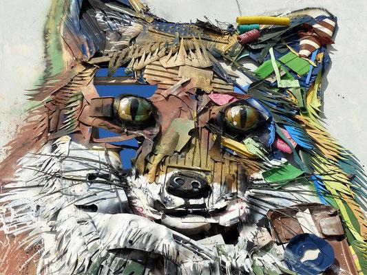 .... der Künstler Bordalo II weist auf fantasievolle Art auf unser Abfallproblem hin
