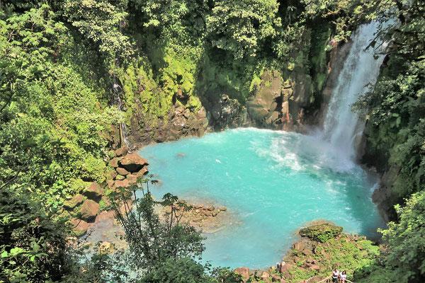 Catarata/Wasserfall Río Celeste