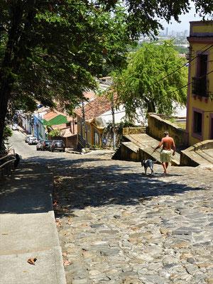 Die steilen Gassen von Olinda